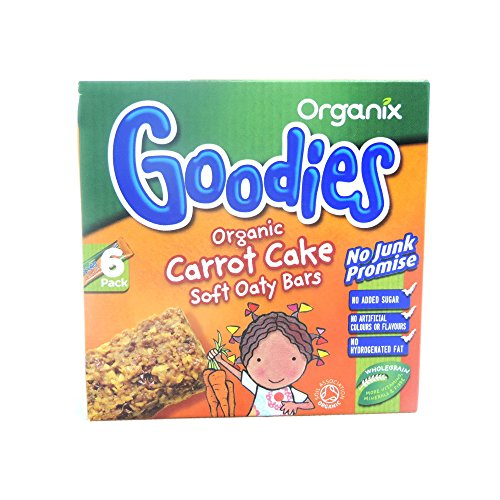 Organix Goodies - Organic Soft Oaty Bars - Carrot Cake - 6x30g (Case of 6)