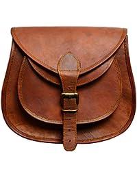 ALBORZ Original Leather Handcrafted Vintage Purse Cross-body, Shoulder, Satchel, Sling Bag For Women,Size 11L*...