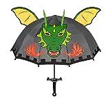 3-D Ritter Schirm Kinderschirm Kinder Stockschirm Regenschirm Drache Drachen Ritterburg Jungen