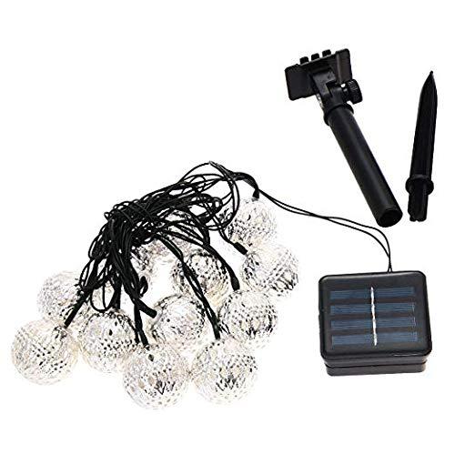 Xcellent Global Guirlandes lumineuses LED Solaire étanche Forme de lanterne métal 12 LED 2 Modes ornement de l'arbre pour l'extérieure,Jardins,Maisons, Mariage M-LD042