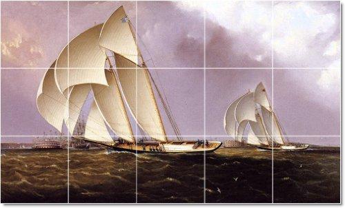 JAMES BUTTERSWORTH NAVES TILE MURAL CONSTRUCCION INTERIOR DISEñO IDEA  36X 60CM CON (15) 12X 12AZULEJOS DE CERAMICA