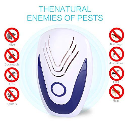 [2019 NEW] Repellente Ultrasuoni per Topi, Insetti, Zanzare, Ratti, Scarafaggi, Mosche,Pulci,Cani- Repeller ultrasonico controllo dei parassiti di Human & Pet Friendly, Niente più Trap, Spray & Bait