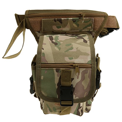 Generic Multi function Outdoor Sports Leg Bag Utility Thigh Fanny Pack Hiking Hunting bag - cp camouflage