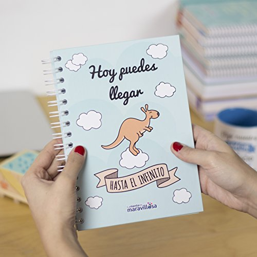 La mente es maravillosa- Cuaderno A5 -Regalo para amiga con dibujos-CANGURO/ESP