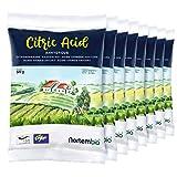 Nortembio Acido Citrico 4 kg (8x500g). Polvere Anidro, 100% Puro. per Produzione Biologica. E-Book Incluso.