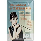 Nostalgic-Art 22163 Breakfast at Tiffany's Blue, Blechschild 20x30 cm
