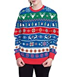 Luckycat Weihnachtspulli Christmas Sweater Damen Sweatshirt Pullover Merry Christmas Rentier Weihnachten Pulli Elf Sweatshirt Cardigan Strickpullover