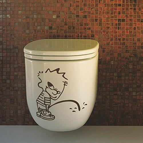 Preisvergleich Produktbild Winhappyhome Bad Boy Toilettenaufkleber Schlafzimmer Hintergrund Wohnzimmer Entfernbare Wand Aufkleber Wandanstrich Ausgangsdekor