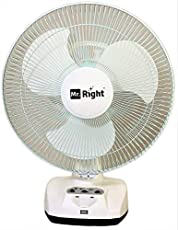 "Mr. Right MR-2912 12"" 3 Blade Oscillating AC-DC Rechargeable Fans Table Fan"