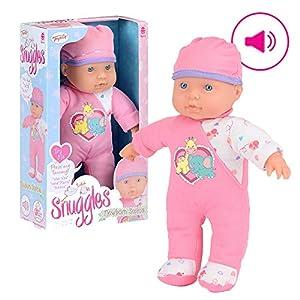 Snuggles Muñeca bebé recién Nacida Sophia Baby Doll, Realista Suave Cuerpo con Sonidos, Multicolor, 28 cm (TY6077)