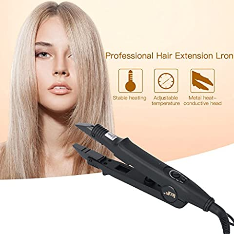 Ckeyin Professional Flat Shape Adjustable Temperature Hair Extension Iron Fusion Hair Connector Iron Wand Melting Tool