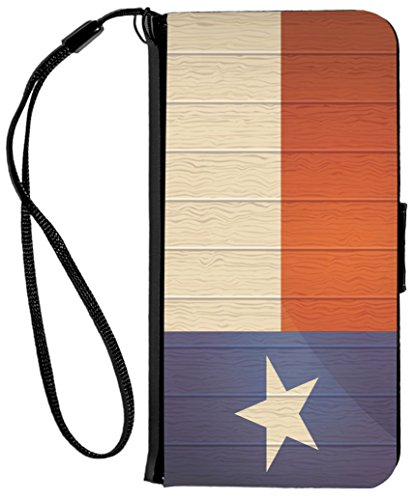 ülle für iPhone 6 / 6s, aus PU-Kunststoff, Motiv Tamaca Palms, Flagge, Texas, auf gealtertem Holz, Texas Flag on Distressed Wood ()