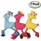 wangstar Haustier Hund quietschende Spielzeug, Pet Welpen kauen Spielzeug, Giraffe quietschende Kauen Spielzeug, 3er Set