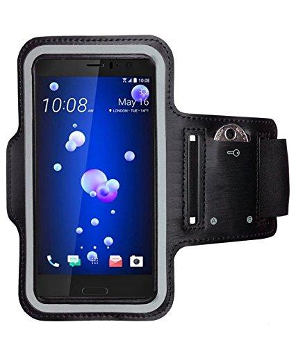 CoverKingz HTC U11 Sportarmband Fitness-Hülle Schwarz Jogging-Case mit Schlüsselfach Handy-Lauf-Tasche Running-Case Handy-Tasche Sport Fitness-Armband