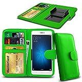 N4U Online® Green Clip On Series PU Leather Wallet Book