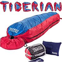 Sleeping Bag For Kids, Adults - 3-4 Season Camping Lightweight All Weather Gear, Winter And Summer Use For Warm And Cold Seasons Compact Adult Bags - Perfect For Hiking, Travel And Festivals