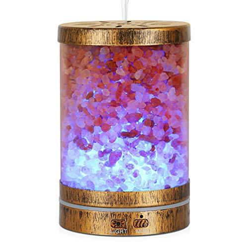 Aluminium-wärme-lampe (AIGOCEER Aroma Diffuser Luftbefeuchter Salzlampe 3 in 1, Ultraschall Air Raumbefeuchter Duftlampe, Aromatherapie Öle Diffusor, 120ml 7 LED Lichtsmodi für Bad, Schlaf- oder Wohnzimmer)