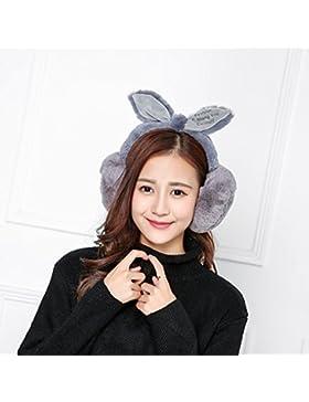 Cuffie Cuffie inverno donna orecchie di coniglietto bow Super orecchio warmer ,Ceneri