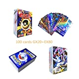 (GX20+EX80) 100 Pokemon Cards Pokemon GX EX Flash Trading Puzzle Fun Card Game