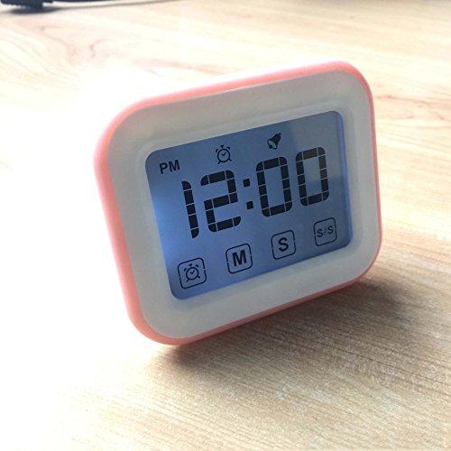 Magnetischer Küchentimer, Digitaler Touch Screen Timer Für Küche, Kochend,Pink