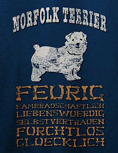 Hund Norfolk Terrier Herren T-Shirt Navy Blau