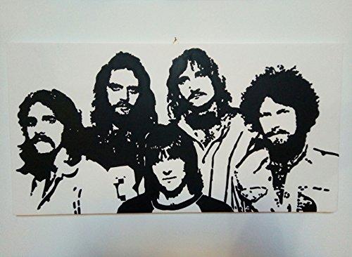 Eagles (Glenn Frey, Don Henley, Bernie LEADON et Randy Meisner)–Tableau moderne peint à la main sur toile canvas (format 60x 30cm)