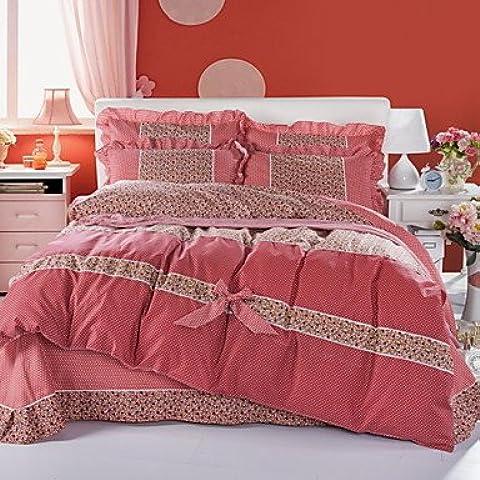 SQL Versión de Corea piel terciopelo cuatro set ropa de cama edredón funda de ropa de cama juegos de cama . queen