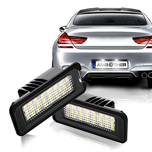 Preisvergleich Produktbild AMBOTHER LED Kennzeichenbeleuchtung Nummernschilder Licht Golf 4/5/6 Passat POLO