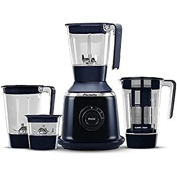Butterfly Signature 750-Watt Mixer Grinder with 4 Jars (Indian Ink)