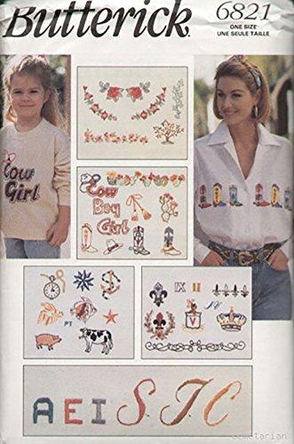 Butterick 6821 Stickpackung 30 Motive