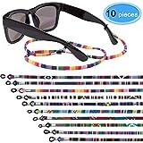 EAONE 10 Stücke Brillenband Eyewear Retainer Sonnenbrillenbänder Brillenhalter Gurt Glasschnur Lanyard Unisex Schutzbrille String (Bunt)