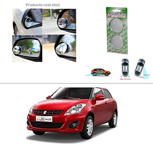 AutoStark Round Shaped Rear Side Blind Spot Mirror For Maruti Suzuki Swift Dzire (New)  available at amazon for Rs.175