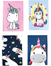 MACRO Cute Unicorn Magnetic Bookmark, Set of 4
