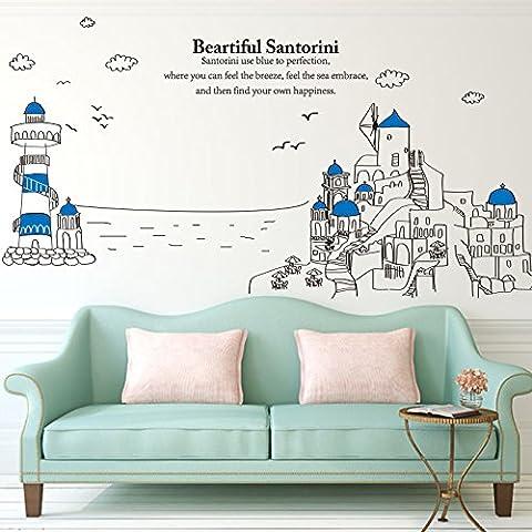 Decorazione della parete adesivi per pareti camera da letto dipinto il soggiorno wall stickers , 1 , in