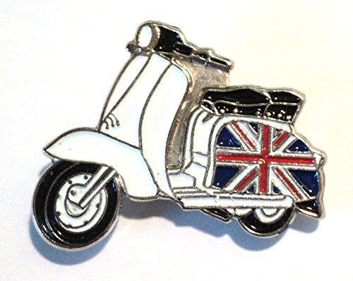 GB Union Jack Flag Scooter MOD Metal Enamel Badge (Metal-heads Union)