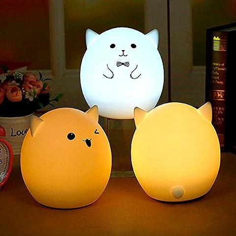 Nuova Batteria USB in silicone colorato LED atmosfera Pig Luce Notturna per Bambini adulti camera da letto