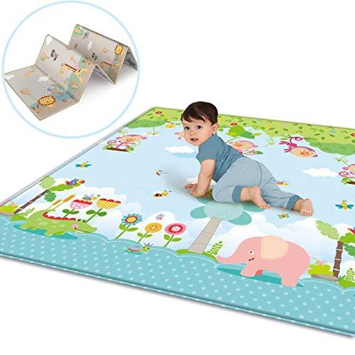 Tappetino Gioco per Neonati Chicco GODNECE Doppia Faccia Impermeabile Tappeto Grande Bambini Gattonamento 200 x 180 x 1