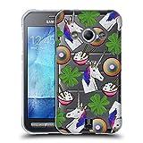 Head Case Designs Einhorn Patch Styles Soft Gel Hülle für Samsung Galaxy Xcover 3