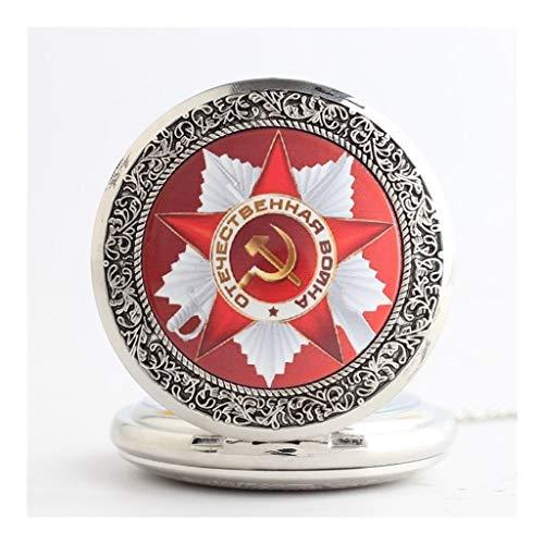 Sichel Hammer Und Kostüm - Taschenuhr, Industrial Classic Hammer und Scythe Memorial Quarz, Gedenkgeschenk - Herren Antike Uhr