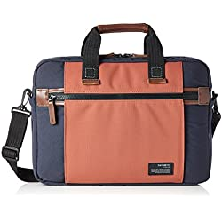 "Samsonite Sideways Laptop Bag 15.6"" Bolso Bandolera, 10.5 Litros, Color Azul/Naranja"