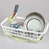 VIOY Regal-Organisator-Behälter-Regal-Teiler für Schränke Lagerregal-Aufbewahrungsbehälter-Regal-Küchen-Schüssel-Zahnstangen-Abfluss-Gestell-Geschirr-Abfluss-Regal-Vollenden-Rahmen-Essstäbchen,C
