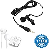 Drumstone Lavalier 3.5mm Clip-on Conference Microphone With Earpod With Mic And Volume Controller 3.5Mm Jack Compatible With Xiaomi, Lenovo, Apple, Samsung, Sony, Oppo, Gionee, Vivo Smartphones (One Year Warranty)