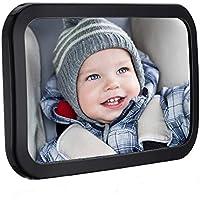 TOPELEK Rücksitzspiegel, Spiegel Auto Baby, Rückspiegel Baby Autospiegel kompatibel mit meisten Auto drehbar doppelriemen mit 360° schwenkbar Shatterproof Material für Baby Kinderbeobachtung.
