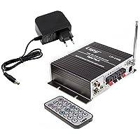 Lepy LP-V9S Hi-Fi potenza stereo amplificatore digitale con SD USB DVD CD FM MP3 + 3A Alimentazione + telecomando -- Nero