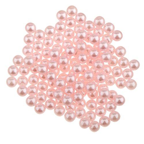 MagiDeal 150pcs Perles en Vrac Artificiel en ABS Plastique Sans Trou Artisanat Fabrication de Bijoux DIY - Rose