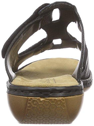 Rieker 65958, Mules femme Noir (Schwarz / 00)