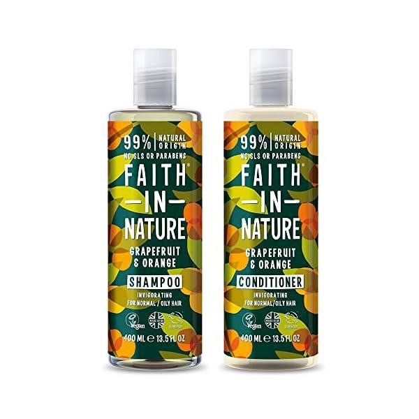 Faith in Nature Natural Grapefruit & Orange Shampoo & Conditioner Set, Invigorating Vegan & Cruelty Free, Parabens and…