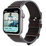 Fullmosa Compatible Apple Watch Pulsera en 4Colores, Vintage Banda de Piel para Apple Watch Series 440mm/44mm, Apple Watch Nike + Series 4, iWatch para Banda
