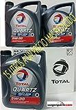 Total Quartz Ineo ECS 5W30Motoröl, 15Liter (3x 5l)