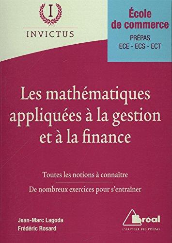 Les mathématiques appliquées à la gestion et à la finance par Frédéric Rosard